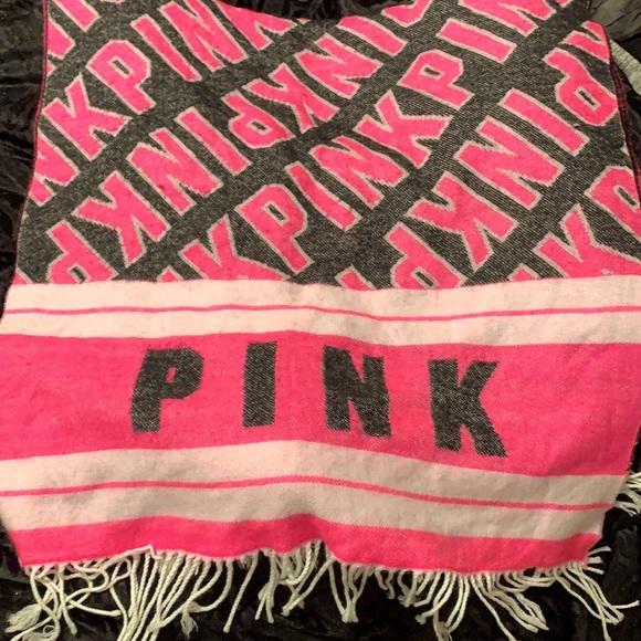 Victoria's Secret pink scarf blanket